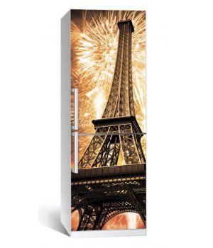 Наклейка на холодильник Эйфелева башня 02 650х2000 мм