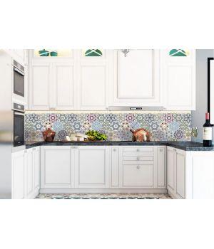 Вінілова наклейка фартук-скінали на кухню Орнамент 600х2500 мм