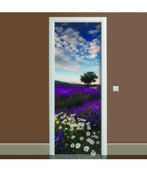 Наклейка на дверь Лаванда 02, 65х200 см