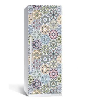 Наклейка на холодильник Геометричний орнамент 650х2000мм
