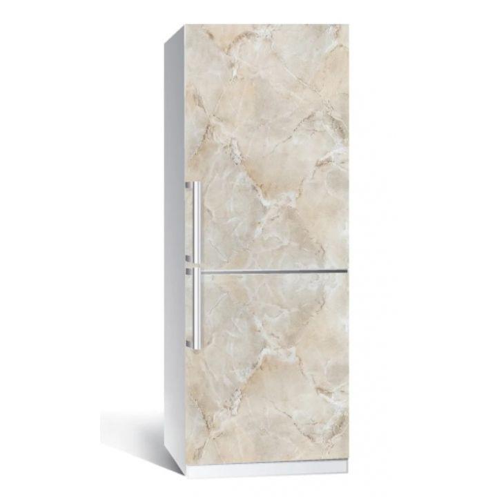 Наклейка на холодильник Мрамор 01 беж 650х2000мм