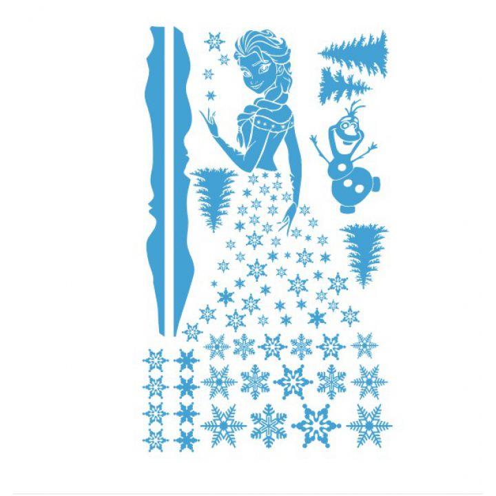 Новогодняя наклейка на окно Холодное сердце