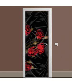 Наклейка на дверь Роза Tassin 01 65х200 см