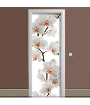 Наклейка на двері Гілка Орхідеї 65х200 см