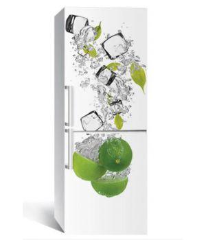"""Наклейка на холодильник """"Лайм та лід 01"""" 650х2000мм"""