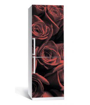 Наклейка на холодильник Червоні троянди 650х2000 мм