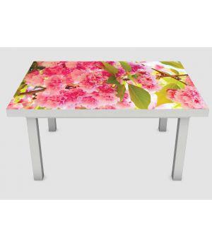 Наклейка на стіл Рожеве цвітіння, 60х120 см