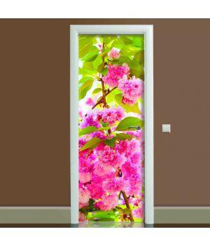 Наклейка на двері Цвітіння 01, 65х200 см