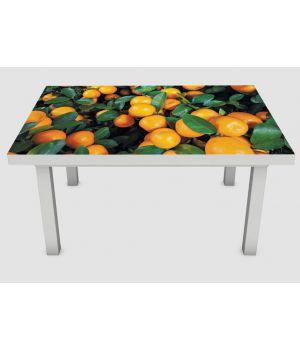 Наклейка на стіл Мандарини, 60х120 см