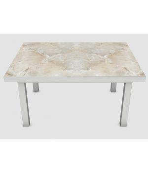 Наклейка на стіл Мармур бежевий 02, 60х120 см