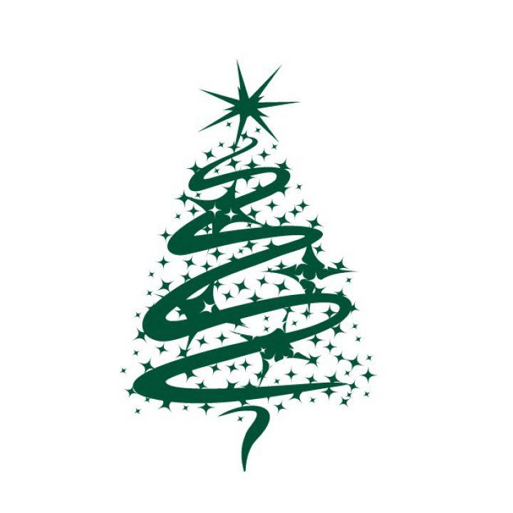 Интерьерная наклейка на Новый год и Рождество Новогодняя елка №2