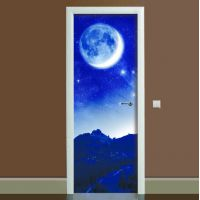 Наклейка на дверь Космос, 65х200 см