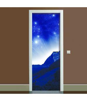 Наклейка на дверь Космос 01, 65х200 см
