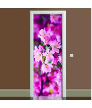 Наклейка на двері Цвітіння 02, 65х200 см