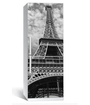 """Наклейка на холодильник """"Сірий Париж"""" 650х2000мм"""