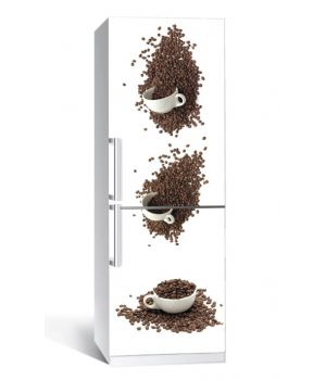 Наклейка на холодильник Кавові чашки 650х2000 мм
