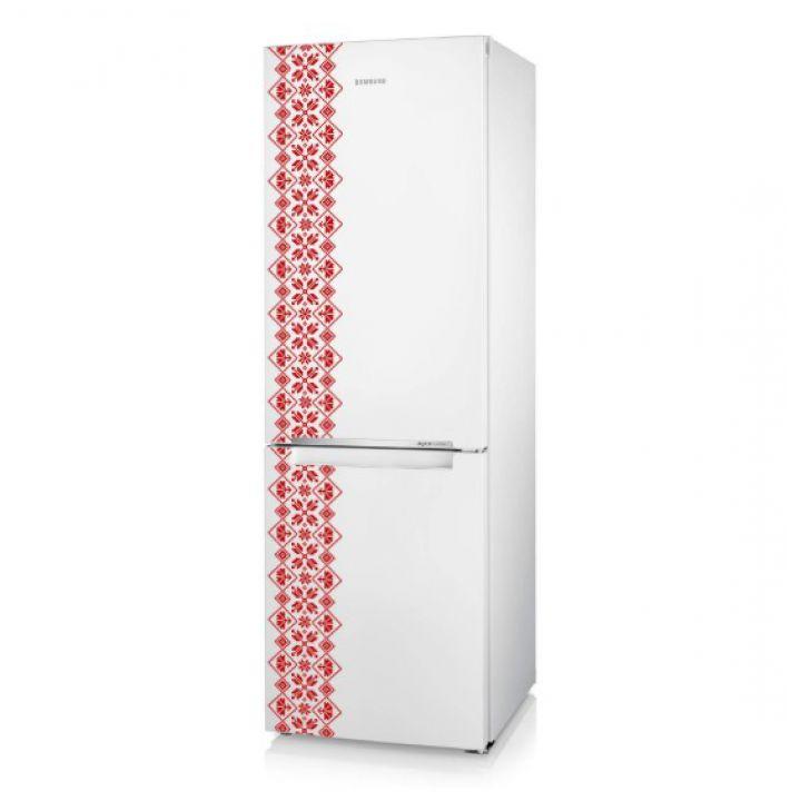 Интерьерная виниловая наклейка на стену и обои Вышиванка на холодильник 2