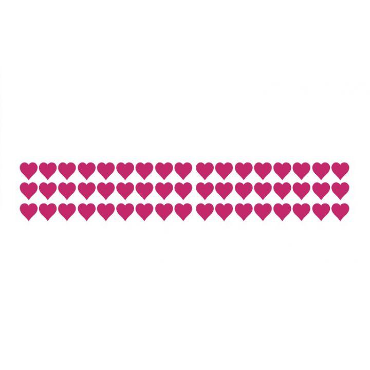Интерьерная виниловая наклейка на стену и обои Набор сердечек