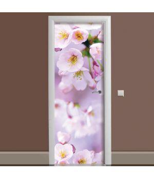 Наклейка на дверь Яблочное цветение 65х200 см