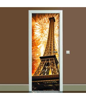 Наклейка на дверь Эйфелева башня 02, 65х200 см