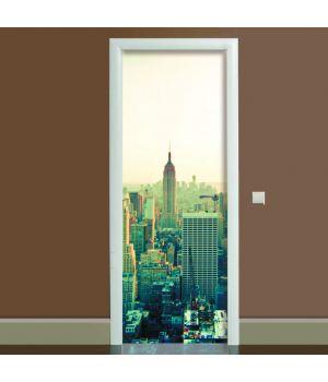 Наклейка на двері Місто, 65х200 см