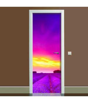 Наклейка на двері Лаванда 01, 65х200 см