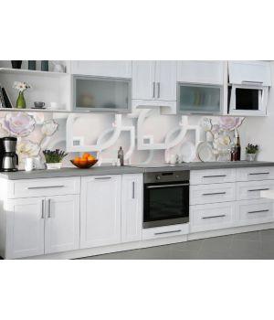 Виниловая наклейка фартук-скинали на кухню Разнообразие 600 х 2500 мм серый