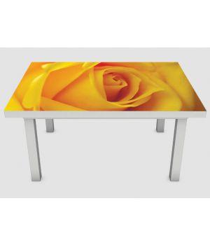Наклейка на стіл Жовта троянда, 60х120 см