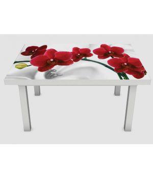 Наклейка на стол Орхидея алая жемчужина01, 60х120 см