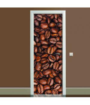 Наклейка на дверь Кофе, 65х200 см