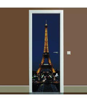 Наклейка на дверь Эйфелева башня 03, 65х200 см