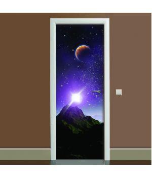 Наклейка на дверь Космос 03, 65х200 см