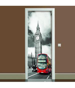 Наклейка на дверь Лондон, 65х200 см