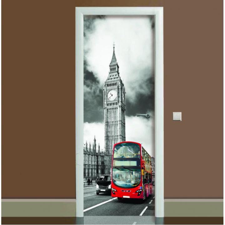 Наклейка на двері Лондон, 65х200 см