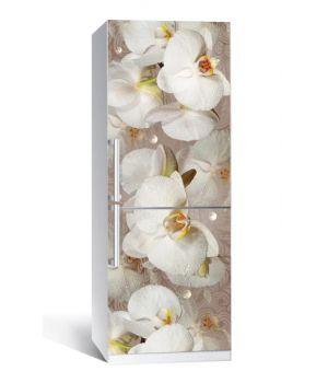 Наклейка на холодильник Орхідея і краплі роси 01 650х2000мм
