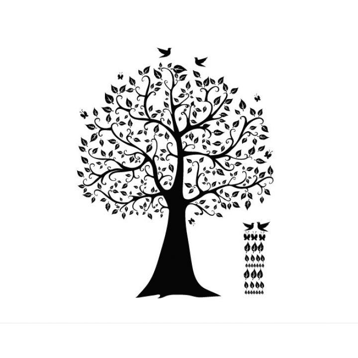 Интерьерная виниловая наклейка на стену и обои Дерево счастья на холодильник