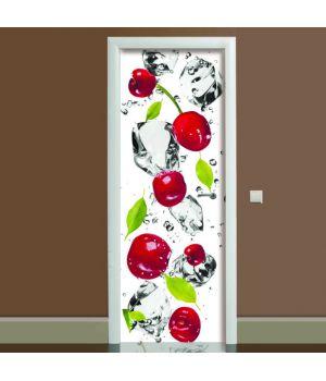 Наклейка на дверь Черешня, 65х200 см