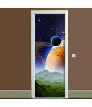 Наклейка на дверь Космос 04, 65х200 см