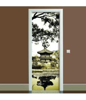 Наклейка на дверь Умиротворение, 65х200 см