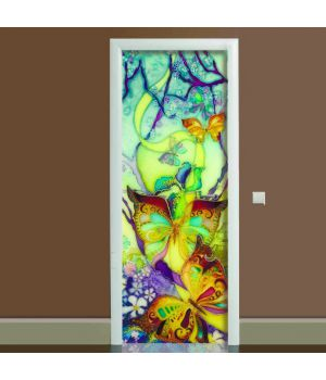 Наклейка на дверь Баттик, 65х200 см