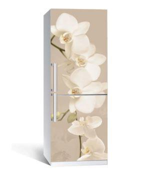 Наклейка на холодильник Орхидея беж 01 650х2000мм