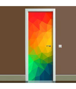 Наклейка на двері Абстракція, 65х200 см