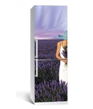 Наклейка на холодильник Лаванда 650х2000 мм