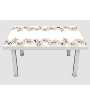 Наклейка на стол Цветение вишни, 60х120 см