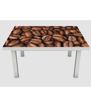 Наклейка на стіл Зерна кави, 60х120 см