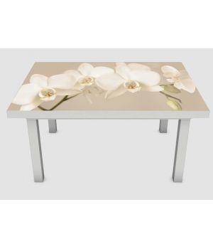 Наклейка на стіл Орхідея беж 02, 60х120 см