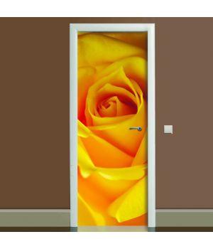 Наклейка на дверь Роза, 65х200 см