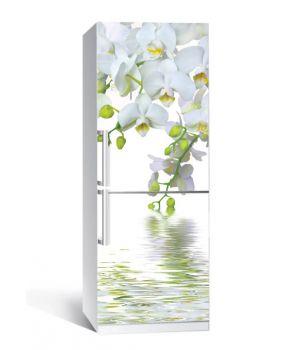 Наклейка на холодильника Орхидея над водой 650х2000мм