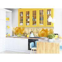 Виниловая наклейка фартук-скинали на кухню Amour 600х2500 мм желтый