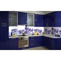 Вінілова наклейка фартук-скінали на кухню Волошка 600 х 2500 мм синій